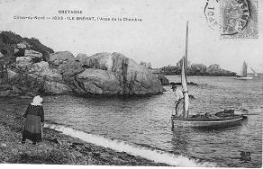 Transport de pierre au petit Gerzido début XXème siècle
