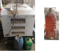 Le générateur et son huile de friture